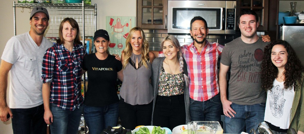 Jason Wrobel with the crew of the film Food Heals, including director, Allion Melody and Producer Laura Sands