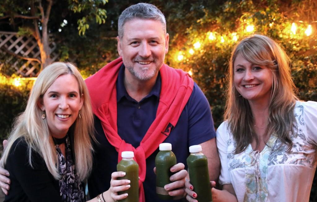 Allison & Suzy juice with Joe Cross at The Food Heals Podcast Studio.