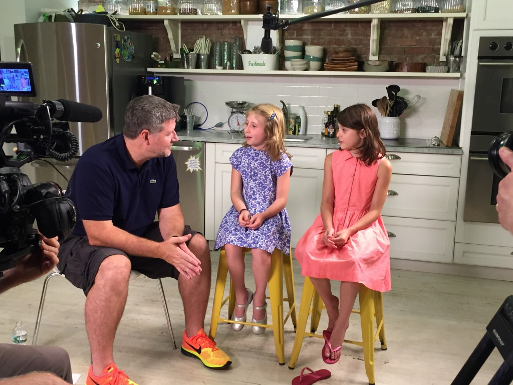 Production still from the Kids Menu. Joe Cross discusses filming The Kids Menu on The Food Heals Podcast with Allison Melody and Suzy Hardy