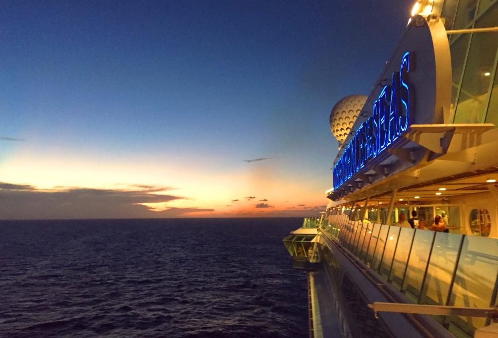 Sunset on Podcast Paradise Cruise
